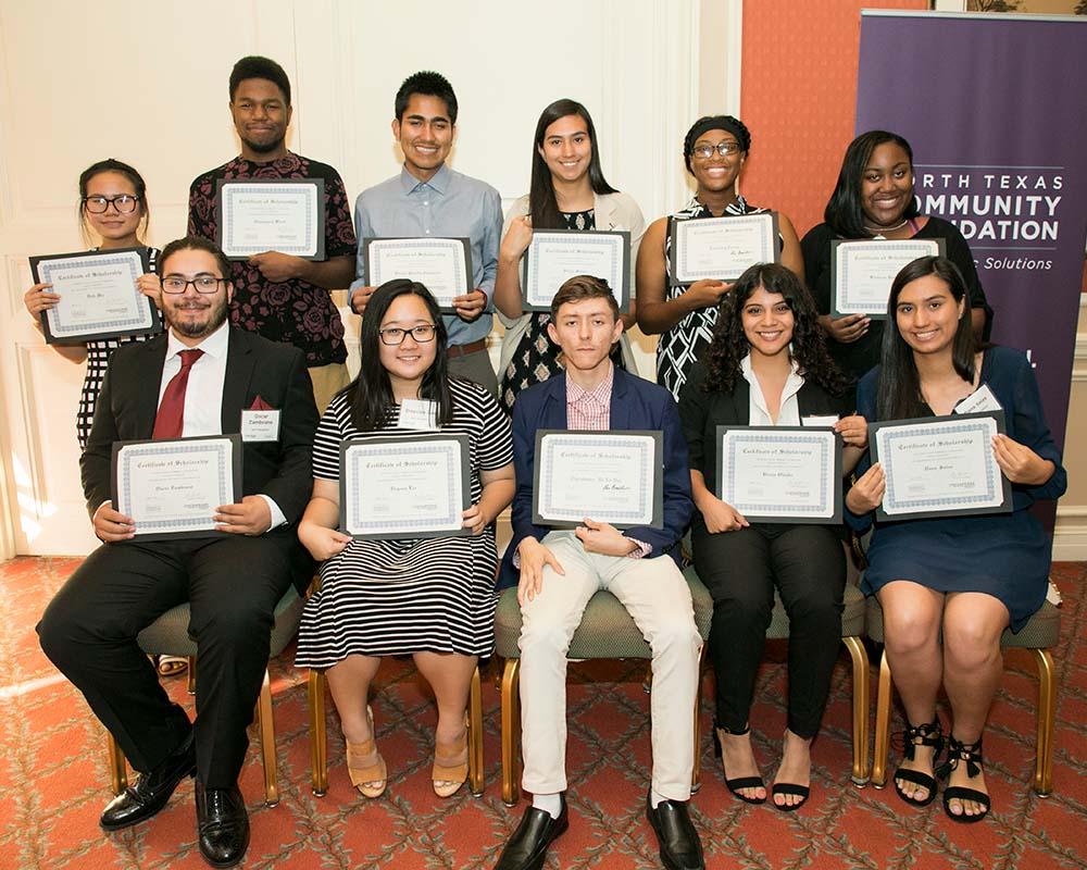 scholarship winners sitting